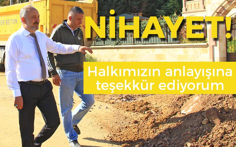 Çiftlikköy'de asfalt çalışmaları yeniden başladı