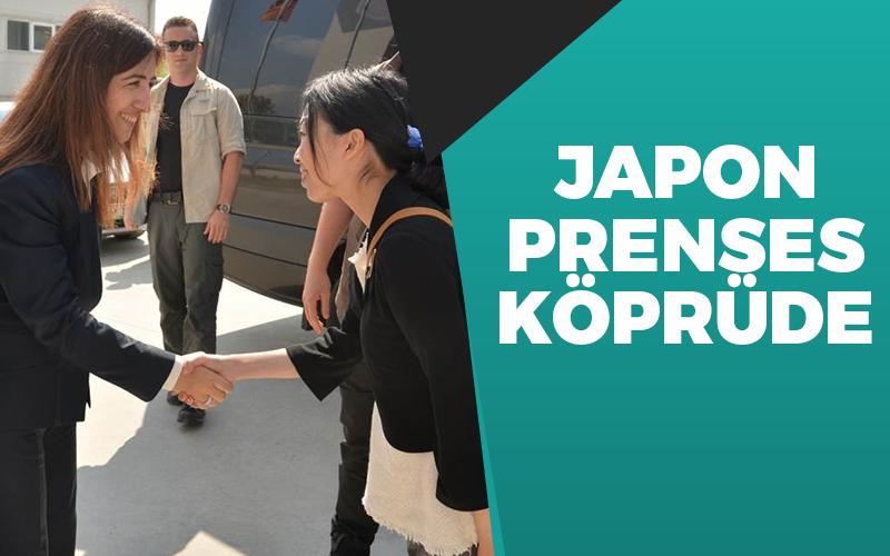Japon Prenses köprüyü gezdi